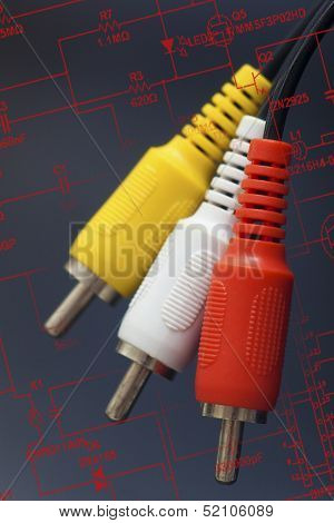 3 Rca Plastic Cable