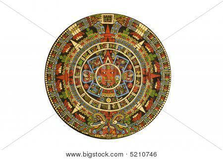 Sacred Pre-columbien Aztec Calendar