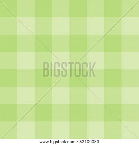 Seamless vector spring green background - checkered pattern or grid texture