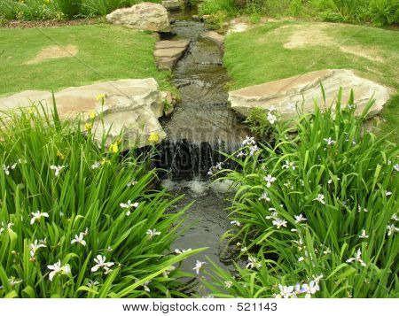 Stream With Waterfall