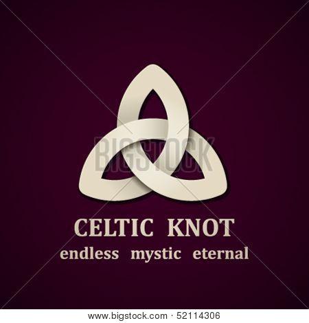 vector paper Celtic knot symbol design template