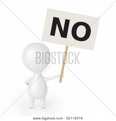 Character With Placard (NO)