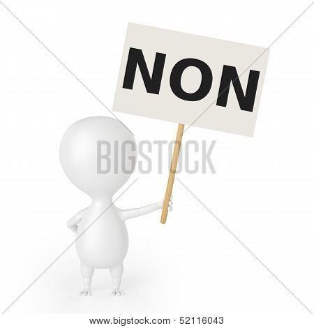 Character With Placard (NON)