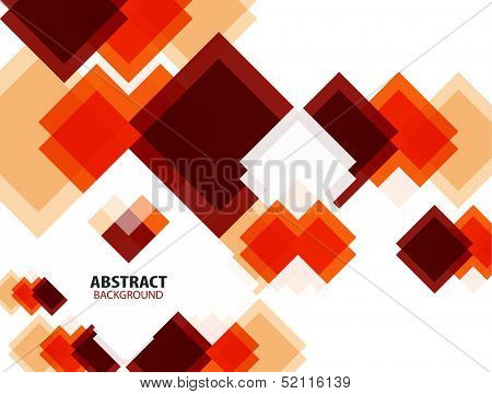 Red squares abstract geometrical mosaic pattern