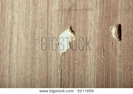Torn Wooden Wallpaper