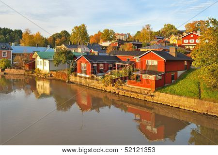 Porvoo In Autumn, Finland