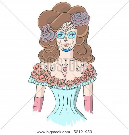 Girl In Makeup, Dia De Los Muertos
