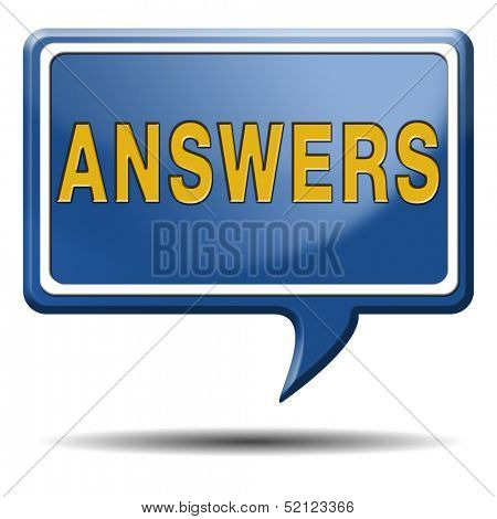 find answers to solve problems answer button answer icon search answer and discover truth