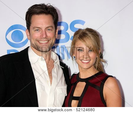 LOS ANGELES - OCT 8:  Michael Muhney, Kim Matula at the CBS Daytime After Dark Event at Comedy Store on October 8, 2013 in West Hollywood, CA