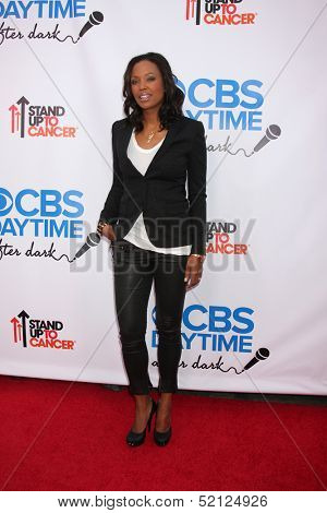 LOS ANGELES - OCT 8:  Aisha Tyler at the CBS Daytime After Dark Event at Comedy Store on October 8, 2013 in West Hollywood, CA