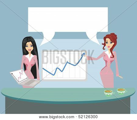 Formally Dressed People In Office, Business Presentation