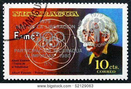 Postage Stamp Nicaragua 1979 Albert Einstein Unissued Stamp