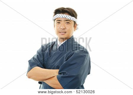 Portrait of an Asian cook