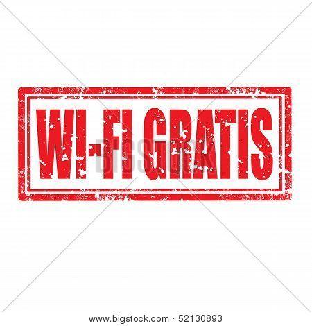 Wi-fi Gratis-stamp