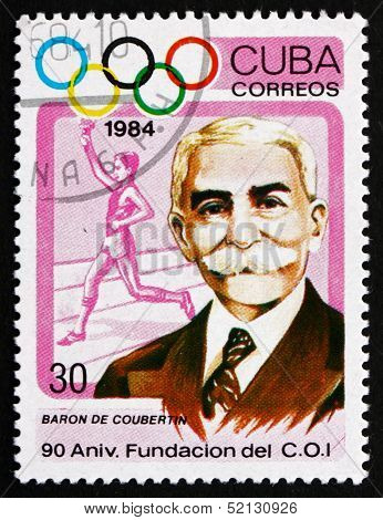 Postage Stamp Cuba 1984 Pierre De Coubertin, Educator, Historian