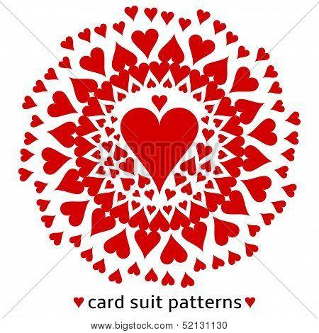 Heart card suit pattern