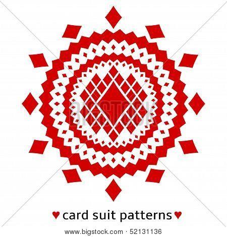 Diamond card suit pattern
