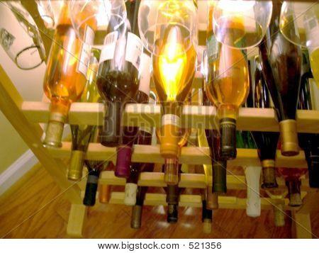 Wine Rack With Glasses 2