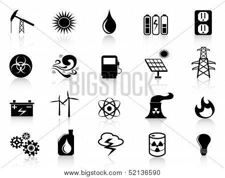 Black Energy Icons Set