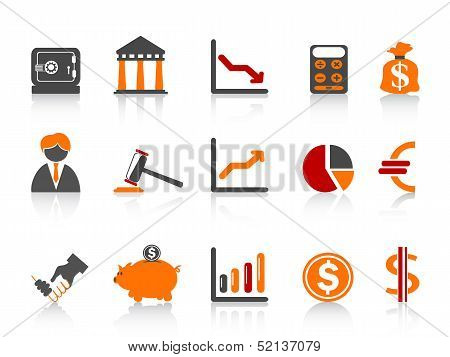 Simple Bank Icons,color Series