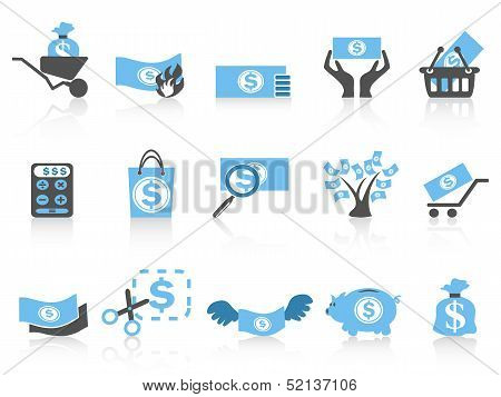 Simple Money Icon blue Series
