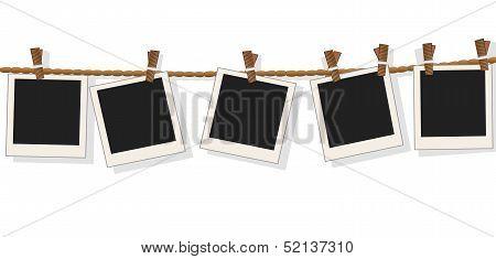 Blank Photo Frames On Line,vector