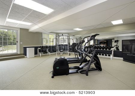 Exercise Room In Suburban Home