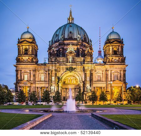 Berlin Cathedral in Berlin, Germany. The church's formation dates back to 1451.