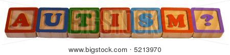 """Autism?"" Spelled Out In Child's Blocks"