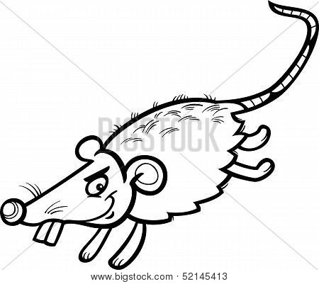 Mouse Or Rat Cartoon Coloring Page