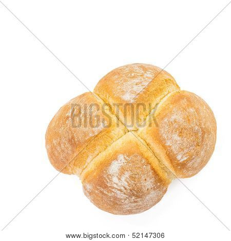 Four Buns Bread From Above