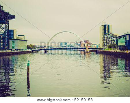 Retro Looking River Clyde