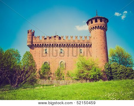 Retro Look Medieval Castle Turin