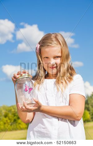 Jar With Butterfly