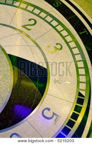 Clock Design On Terrazzo Floor
