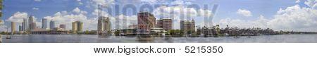 panorama of downtown Tampa, Florida USA
