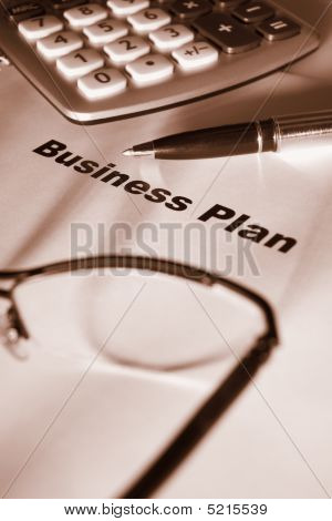 Close Up Of Business Plan