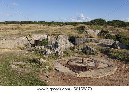 La Pointe Du Hoc, Cricqueville-en-bessin, Normandie, France