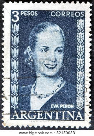 Argentina - Circa 1948 : Stamp Printed In Argentina Shows Eva Peron, Circa 1948