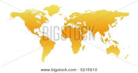 Worldmap Yellow