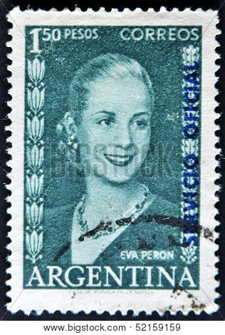 Argentina - Circa 1948 : Stamp Printed In Argentina Shows Eva Peron, Circa 1948