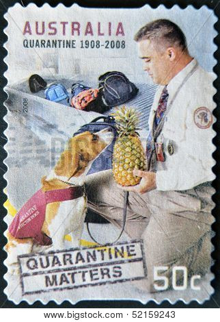Australia - Circa 2008: A Stamp Printed In Australia Dedicated To Quarantine, Circa 2008