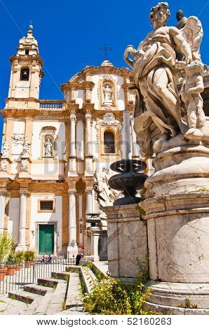 Church Of Saint Dominic In Palermo, Italy