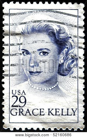 stamp shows Grace Patricia Kelly was an American actress and Princess consort of Monaco