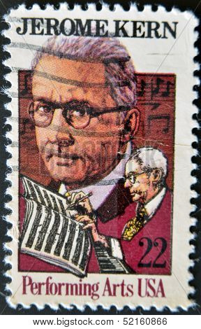 United States - Circa 1985: A Stamp Printed In Usa Shows Jerome Kern, Circa 1985