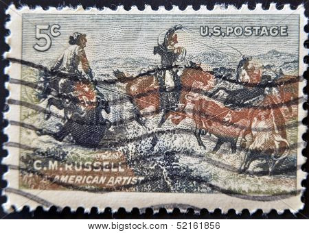 United States - Circa 1964: Stamp Printed In Usa, Shows