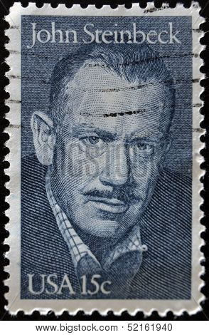 United States - Circa 1979: A Stamp Printed By United States, Shows John Steinbeck, Circa 1979