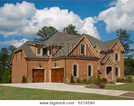 Luxury Model Home Exterior Cloud Sky