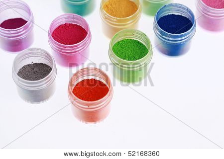 Colorful pigments powders
