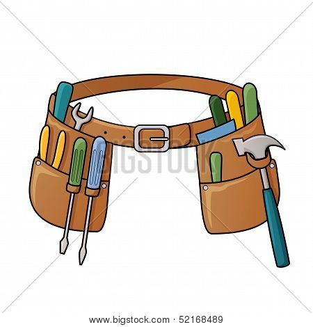 Stock illustration of tool belt